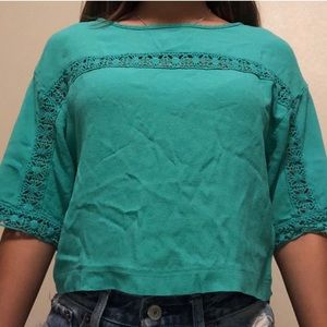 Beautiful Teal Croptop Blouse!!!!